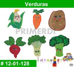 Verduras MATERIAL DIDACTICO FOAMY  INTQUIETOYS PRIMERDI