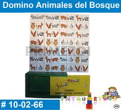 Domino Animales del Bosque MATERIAL DIDACTICO MADERA INTQUIETOYS PRIMERDI
