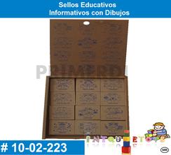 Sellos Educativos Informativos con Dibujos MATERIAL DIDACTICO MADERA INTQUIETOYS PRIMERDI