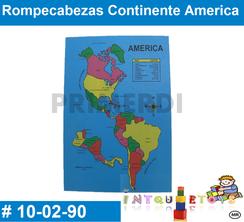 Rompecabezas Continente America MATERIAL DIDACTICO MADERA INTQUIETOYS PRIMERDI