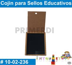 cojin para sellos educativos material didactico de madera primerdi