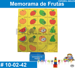 Memorama de Frutas MATERIAL DIDACTICO MADERA INTQUIETOYS PRIMERDI