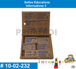 Sellos Educativos Informativos 3 MATERIAL DIDACTICO MADERA INTQUIETOYS PRIMERDI