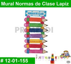 Mural Normas de Clase Lapiz MATERIAL DIDACTICO FOAMY  INTQUIETOYS PRIMERDI