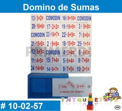 Domino de Sumas MATERIAL DIDACTICO MADERA INTQUIETOYS PRIMERDI
