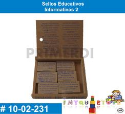 Sellos Educativos Informativos 2 MATERIAL DIDACTICO MADERA INTQUIETOYS PRIMERDI