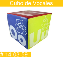 Cubo de Vocales Estimulacion Temprana  PRIMERDI INTQUIETOYS