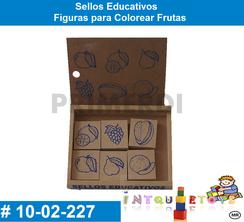 ellos Educativos Figuras para Colorear Frutas MATERIAL DIDACTICO MADERA INTQUIETOYS PRIMERDI