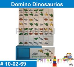 Domino Dinosaurios MATERIAL DIDACTICO MADERA INTQUIETOYS PRIMERDI