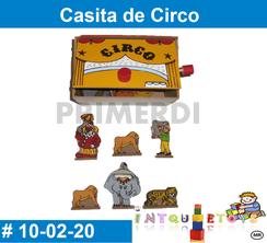 Casita de Circo de madera MATERIAL DIDACTICO MADERA INTQUIETOYS PRIMERDI