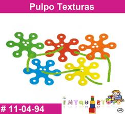 Pulpo Texturas MATERIAL DIDACTICO PLASTICO INTQUIETOYS PRIMERDI