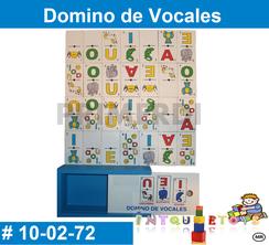 Domino de Vocales MATERIAL DIDACTICO MADERA INTQUIETOYS PRIMERDI