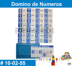 Domino de Numeros MATERIAL DIDACTICO MADERA INTQUIETOYS PRIMERDI
