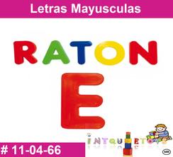Letras Mayusculas MATERIAL DIDACTICO PLASTICO INTQUIETOYS PRIMERDI