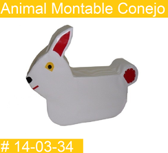 Animal Montable Conejo Estimulacion Temprana  PRIMERDI INTQUIETOYS