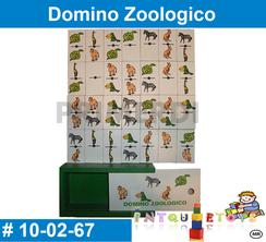 Domino zoologio material didactico de madera primerdi intquietoys