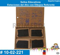 Sellos Educativos Estaciones del Año con Dibujos Referente MATERIAL DIDACTICO MADERA INTQUIETOYS PRIMERDI