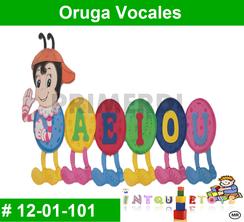 Oruga Vocales MATERIAL DIDACTICO FOAMY  INTQUIETOYS PRIMERDI