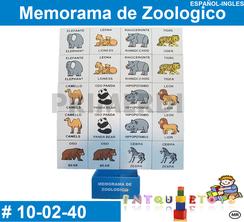 Memorama de Zoologico MATERIAL DIDACTICO MADERA INTQUIETOYS PRIMERDI