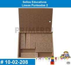 Sellos Educativos Lineas Punteadas 2 MATERIAL DIDACTICO MADERA INTQUIETOYS PRIMERDI