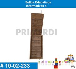 Sellos Educativos Informativos 4 MATERIAL DIDACTICO MADERA INTQUIETOYS PRIMERDI