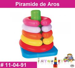 Piramide de Aros MATERIAL DIDACTICO PLASTICO INTQUIETOYS PRIMERDI