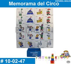 Memorama del Circo MATERIAL DIDACTICO MADERA INTQUIETOYS PRIMERDI