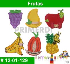 Frutas MATERIAL DIDACTICO FOAMY  INTQUIETOYS PRIMERDI