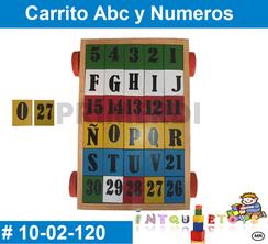 Carrito abc y numeros MATERIAL DIDACTICO MADERA INTQUIETOYS PRIMERDI