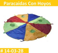Paracaidas Con Hoyos Estimulacion Temprana  PRIMERDI INTQUIETOYS