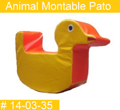 Animal Montable Pato Estimulacion Temprana  PRIMERDI INTQUIETOYS