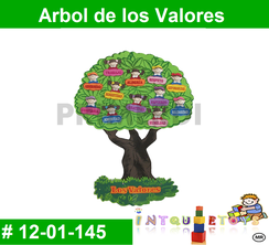 Arbol de los Valores MATERIAL DIDACTICO FOAMY  INTQUIETOYS PRIMERDI