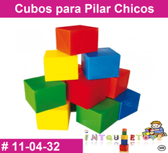 Cubos para Pilar Chicos MATERIAL DIDACTICO PLASTICO INTQUIETOS PRIMERDI