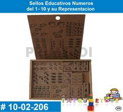 Sellos Educativos Numeros MATERIAL DIDACTICO MADERA INTQUIETOYS PRIMERDI