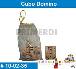 Cubo Domino MATERIAL DIDACTICO MADERA INTQUIETOYS PRIMERDI