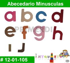 Abecedario Minusculas MATERIAL DIDACTICO FOAMY  INTQUIETOYS PRIMERDI