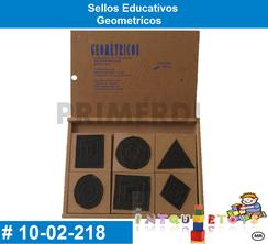 Sellos Educativos Geometricos MATERIAL DIDACTICO MADERA INTQUIETOYS PRIMERDI