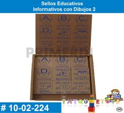 Sellos Educativos Informativos con Dibujos 2 MATERIAL DIDACTICO MADERA INTQUIETOYS PRIMERDI