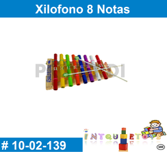 Xilofono 8 Notas MATERIAL DIDACTICO MADERA INTQUIETOYS PRIMERDI