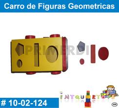 Carro de Figuras Geometricas MATERIAL DIDACTICO MADERA INTQUIETOYS PRIMERDI