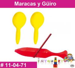 Maracas y Güiro MATERIAL DIDACTICO PLASTICO INTQUIETOYS PRIMERDI