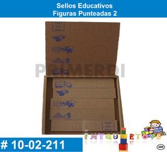 Sellos Educativos Figuras Punteadas 2 MATERIAL DIDACTICO MADERA INTQUIETOYS PRIMERDI