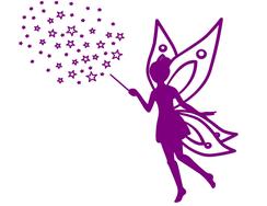 Wandtattoo Wandaufkleber Wandsticker günstig online kaufen  Mädchenzimmer Mädchen Zimmer Kinderzimmer Baby Kind  Fee Sterne Prinzessin Schloss Geburt Geschenk Taufe