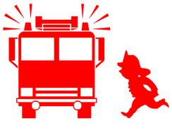 Wandtattoo Wandaufkleber Wandsticker günstig online kaufen  Jungenzimmer Junge Jungs Boys Zimmer Kinderzimmer Baby Kind  Feuerwehr Feuerwehrmann