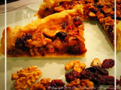 Tarte pommes-canneberges et noix du Clos