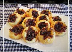 Tartelettes au confit d'oignons