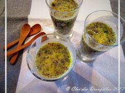 Verrines de Chia au lait d'amande et fruits de la passion
