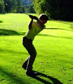 Clubmeister Lukas Kocheise bei der Clubmeisterschaft 2009. Golf-Club Freudenstadt. Foto Rainer Sturm stormpic.de