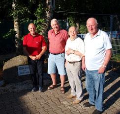v.l Claus Siegfried, Severin Lechenmayer, Günther Arndt, Karl Riedel