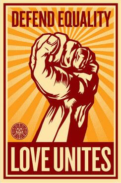 Shepard Fairey Love Unites
